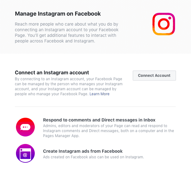 connect link instagram account fo facebook help solved